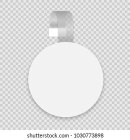 Vector blank round wobbler with transparent strip