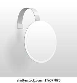 Vector Blank Round Wobbler with Transparent Strip Isolated on a White Background