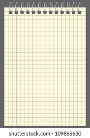 Vector blank squared notebook
