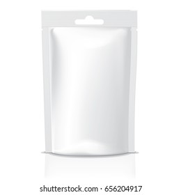 Vector blank stand up pouch packaging model