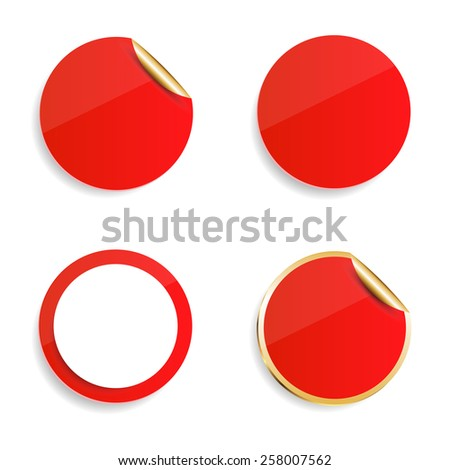 Vector Blank Stickers Stock Vector (Royalty Free) 258007562