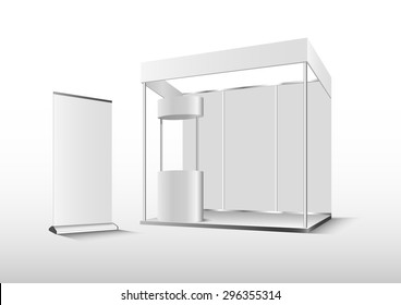 Vector Blank trade exhibition booth stand