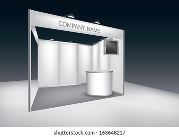 Vector Blank trade exhibition stand with LED panel