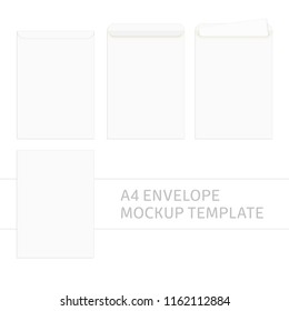 two blank envelopes isolated on gray stock vector royalty free