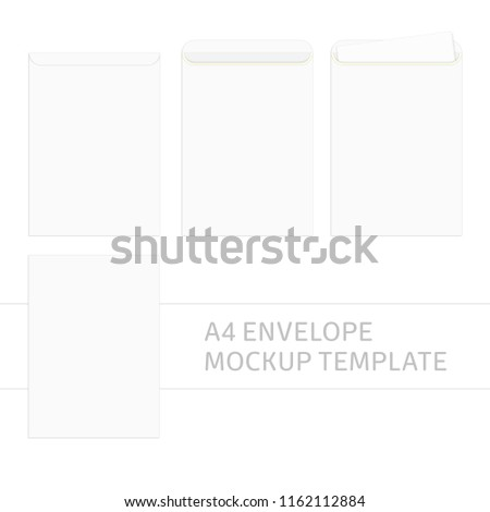 vector blank white paper c 4 envelope stock vector royalty free