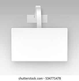 Vector Blank White Square Papper Plastic Advertising Price Wobbler Front view Isolated on Background