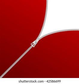 vector blank zipper corner