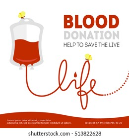 vector blood donation illustration