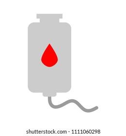 vector blood donation illustration, medical icon - blood drop symbol