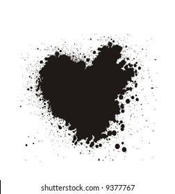 Vector Bloody grunge heart