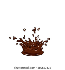 Vector blots of chocolate. Melting chocolate melted.