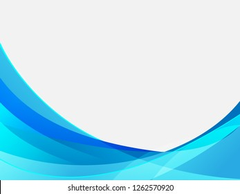 Vector blue abstract background. Wavy waves banner color line for web banner.