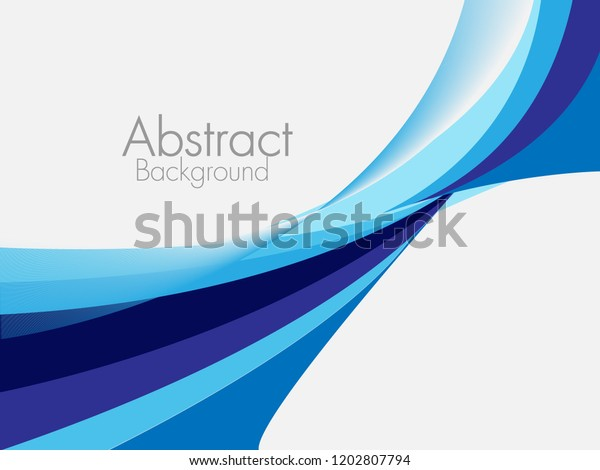Vector Blue Abstract Background Wavy Waves Stock Vector