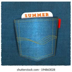 Vector - Blue back jeans pocket