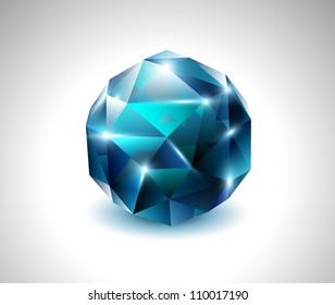 vector blue beautiful gemstone