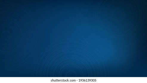 vector blue blur background with circles or dashed rings.