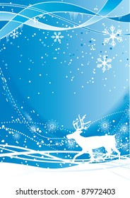 Vector blue Christmas background