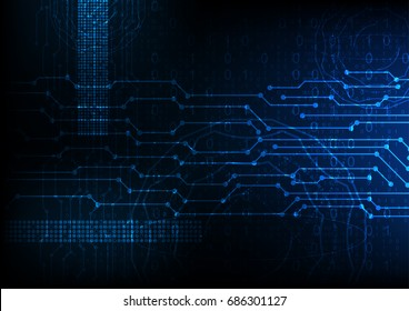 vector blue future abstract technology background, digital data encryption, internet firewall computer
