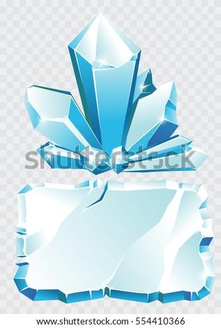 092f1798931e Vector Blue Ice Crystal Ice Frame Stock Vector (Royalty Free ...