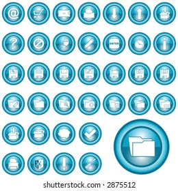 vector blue icon set 2