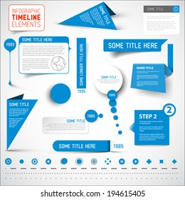 Vector blue infographic timeline elements / template