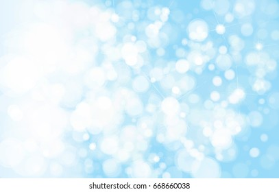 Vector blue, lights  background, winter background.