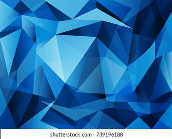 vector blue polygon pattern with abstract light and shade for business concept backdrop background