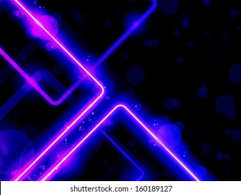 Vector - Blue Purple  Lines Background Neon Laser