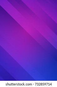 Vector Blue and Purple Striped  Background.  Abstract Bg for Night Party Posters, Banners or Advertisements.