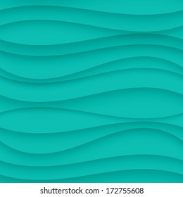 Vector Blue seamless Wavy background texture.