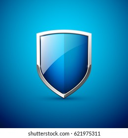 Vector blue shield