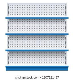 Vector Blue Supermarket Rack isolated on white background
