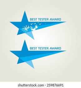 Vector Blue Tester Award Star