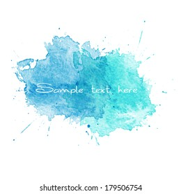 Vector Blue Watercolor splatter