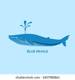 Vector blue whale icon