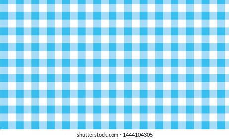 vector blue and white Gingham check pattern design illustration for fabric printing
