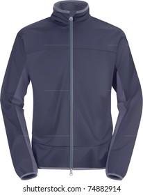 vector blue windstopping jacket