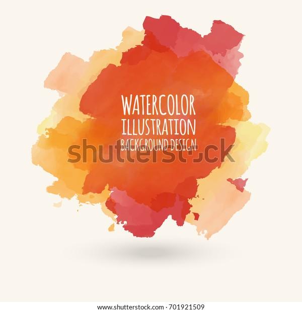Vector Blue Yellow Brush Strokes Watercolor Stock Vector