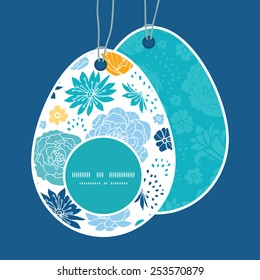 vector colorful oriental flowers easter egg stock vector royalty