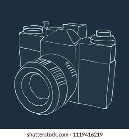 Vector Blueprint camera sketch