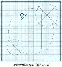 Vector blueprint mayonnaise plastic package icon 2