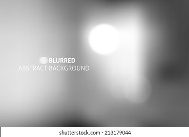 vector blurred abstract background with white lights
