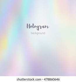 Vector blurred holographic background