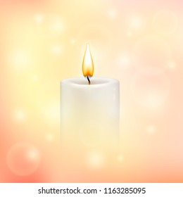 Vector blurry soft background with candle