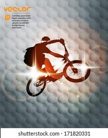Vector of BMX cyclist