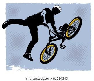 Vector BMX cyclyst