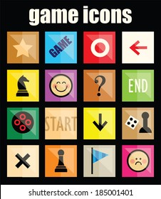 Vector Board game icons