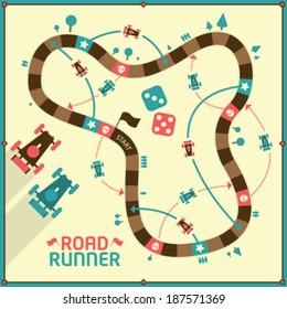 Vector Board Game - Road Runner