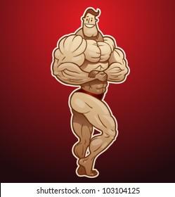 vector bodybuilder