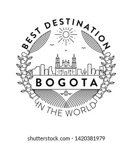 Vector Bogota City Badge, Linear Style
